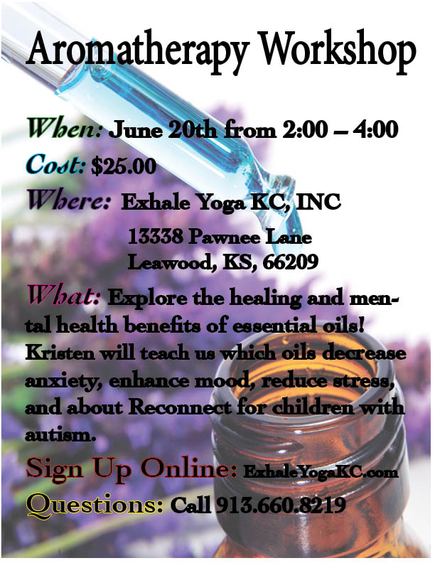 aromatherapy workshop flyer